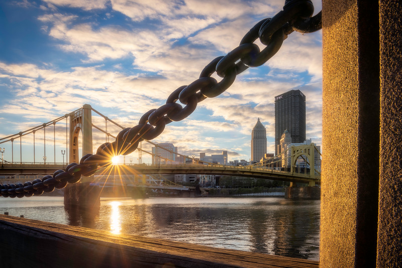 """Linked"" - Pittsburgh, North Shore   Recommended Print sizes*:  4x6  