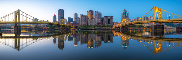 """Night to Light"" - Pittsburgh, North Shore   Recommended Print sizes*:  5x15  