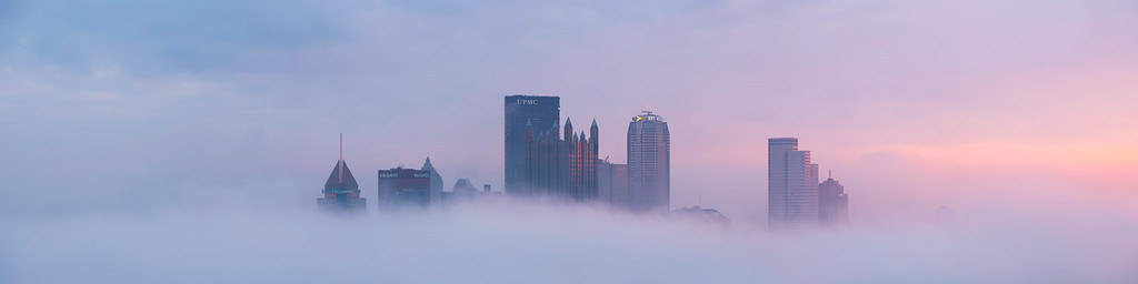 """""""Bespin"""" - Pittsburgh, Mount Washington   Recommended Print sizes*:  5x15     6x18     8x24     10x30      12x36  *When ordering other sizes make sure to adjust the cropping at checkout*  © JP Diroll 2017"""