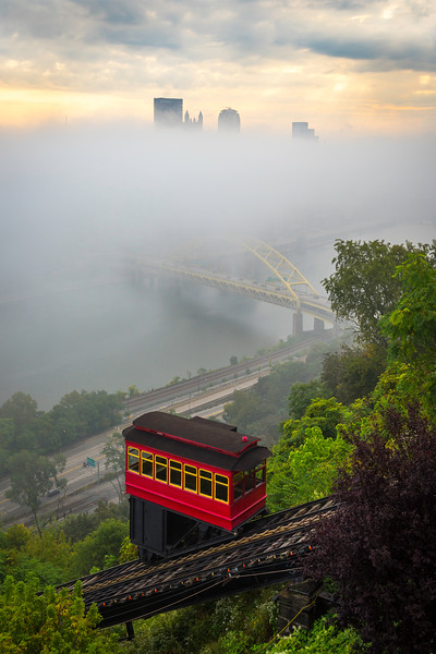 """Veiled (Vertical)"" - Pittsburgh, Mt. Washington   Recommended Print sizes*:  4x6  
