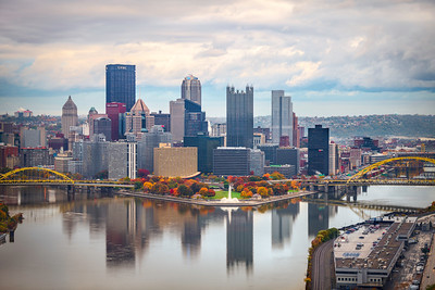"""""""Fall Into PGH"""" - Pittsburgh, West End   Recommended Print sizes*:  4x6      8x12     12x18     16x24     20x30     24x36   30x45   40x60 *When ordering other sizes make sure to adjust the cropping at checkout*  © JP Diroll 2018"""