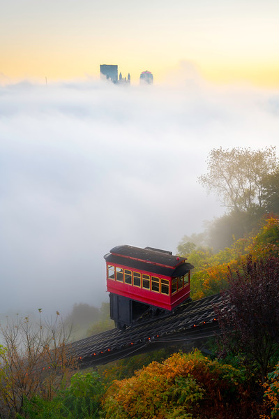 """Shrouded in Sunrise"" - Pittsburgh, Mt. Washington   Recommended Print sizes*:  4x6  