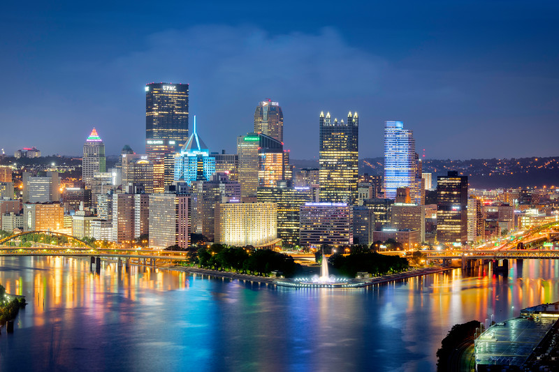 """Paint it Blue"" - Pittsburgh, West End   Recommended Print sizes*:  4x6  