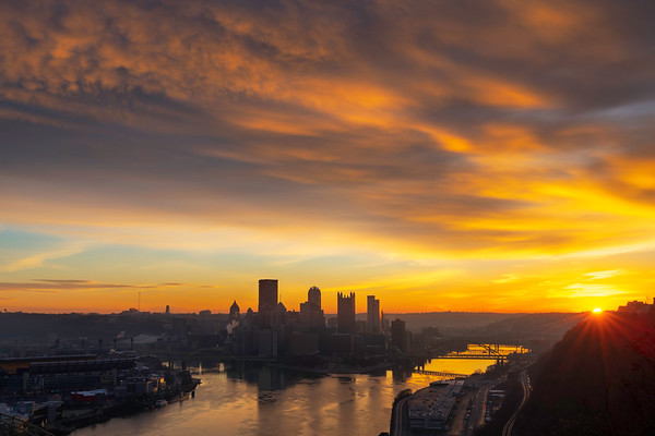 """""""Sunkissed"""" - Pittsburgh, West End   Recommended Print sizes*:  4x6      8x12     12x18     16x24     20x30     24x36   30x45   40x60 *When ordering other sizes make sure to adjust the cropping at checkout*  © JP Diroll 2018"""