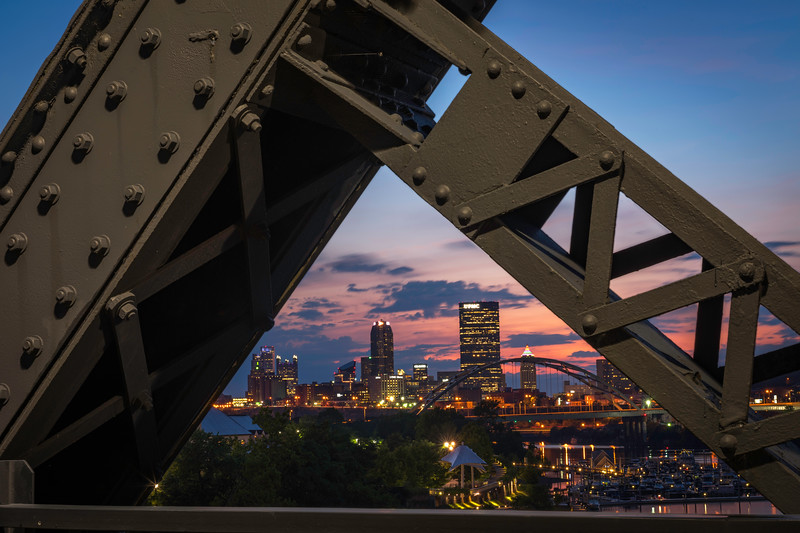 """Hot Metal Sunset"" - Pittsburgh, South Shore Shore   Recommended Print sizes*:  4x6  