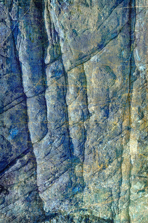 Blue Rock Abstract