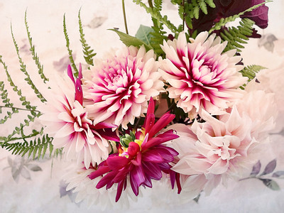 Dahlia and Fern Bouquet