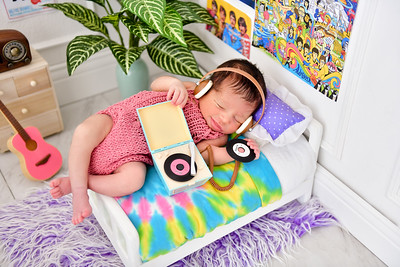 The Beatles Theme Newborn Photos