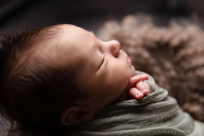 Moody Newborn Boy Session