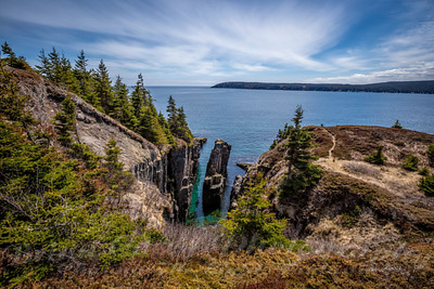 The Pulpit on the East Coast Trail at Bay Bulls Newfoundland