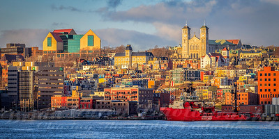 November sunrise in St John's Newfoundland