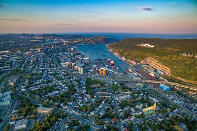 Air Newfoundland - Sunset St John's