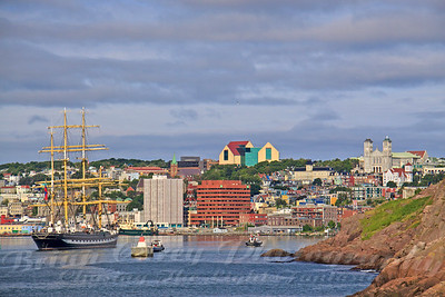 Tall Ship enters St John's Harbour