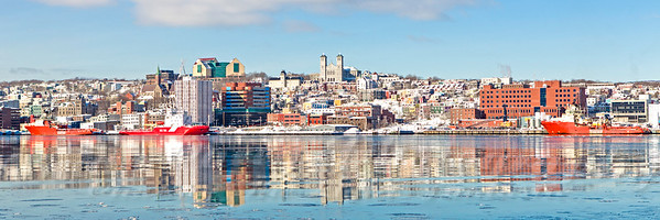 February Reflections in St John's Newfoundland