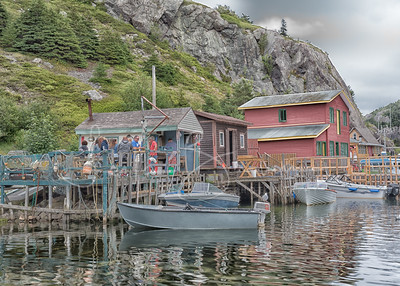 Afternoon gathering, Quidi Vidi Village, Newfoundland