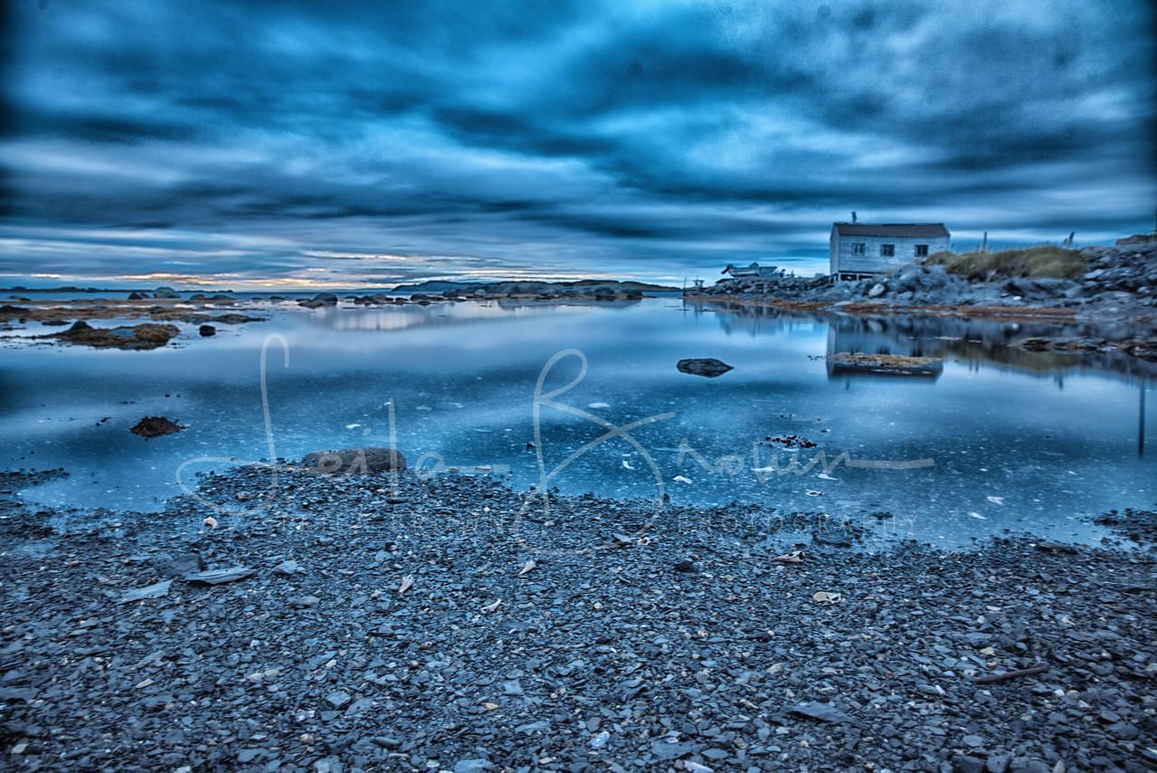 L'anse aux Meadows, sunset, Newfoundland