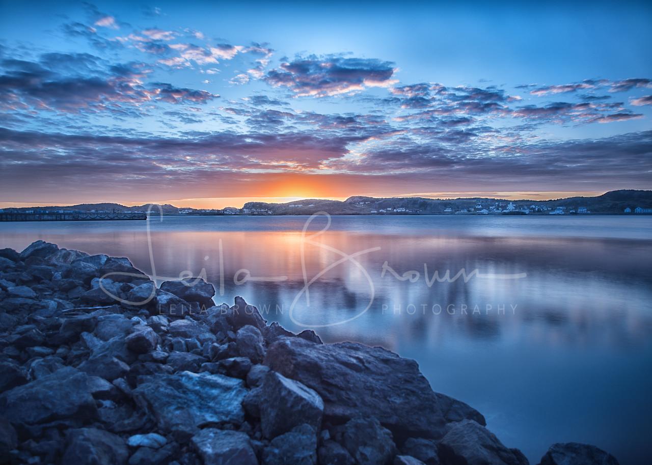 Blue Twillingate sunrise, Twillingate, Newfoundland