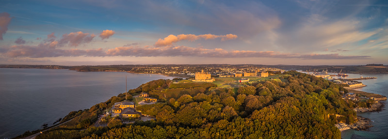 Pendennis Castle at sunrise, Falmouth, Cornwall