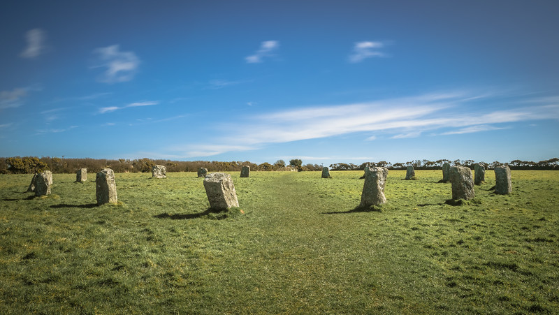 The Merry Maidens, is a late neolithic stone circle located 2 miles to the south of the village of St Buryan, Cornwall