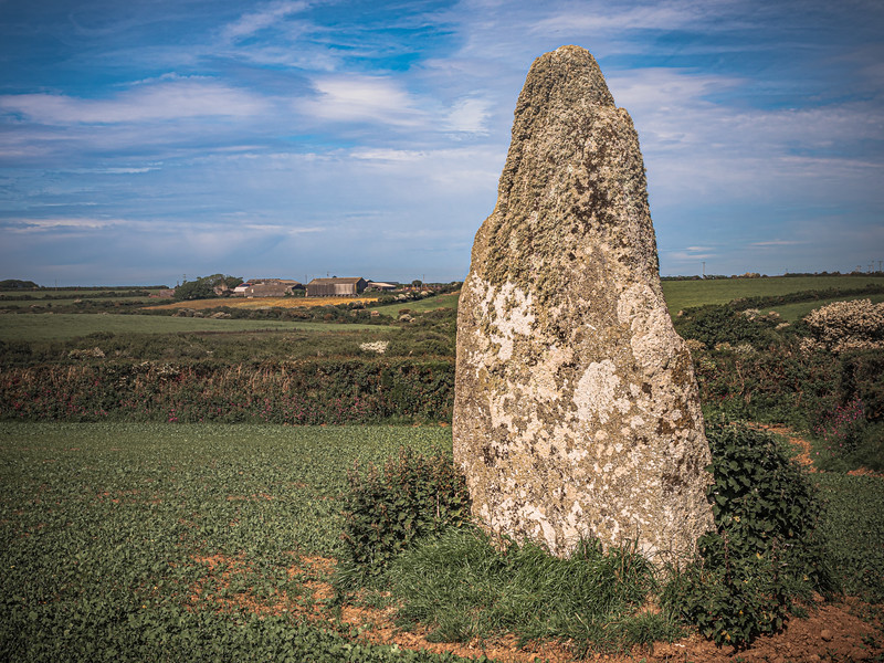 The Blind Fiddler Standing Stone, Cornwall 2018