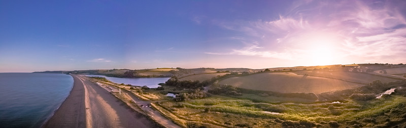 Slapton Sands at Sunset, Devon..