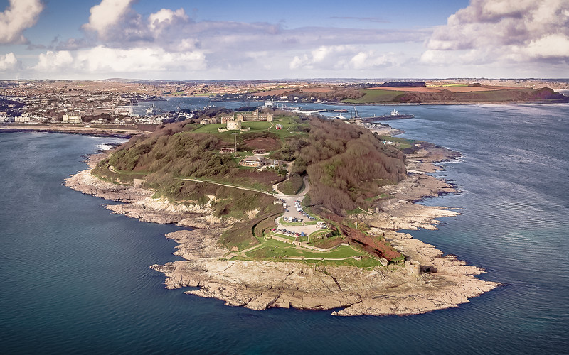 Pendennis Castle, Falmouth, Cornwall..