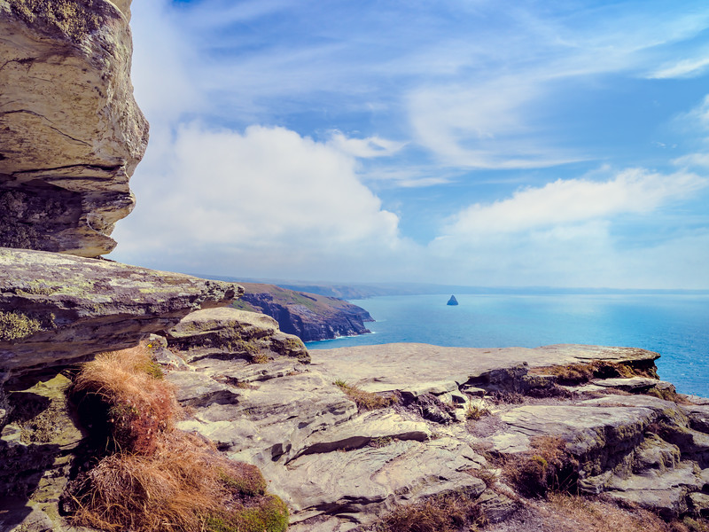 Looking outward from Tintagel Castle, Cornwall