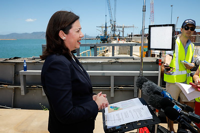 06 December 2016 - Townsville, Qld - Adani Carmichael coal mine announcement in Townsville.  Queensland premier Annastacia Palaszczuk during a media conference - Photo: Cameron Laird (Ph: 0418 238811 - cameron@cameronlaird.com)