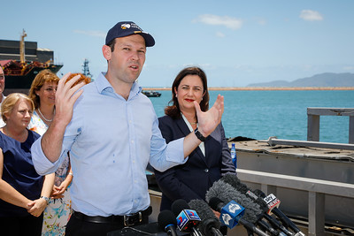 06 December 2016 - Townsville, Qld - Adani Carmichael coal mine announcement in Townsville.  Senator Matt Canavan during a media conference - Photo: Cameron Laird (Ph: 0418 238811 - cameron@cameronlaird.com)