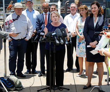 06 December 2016 - Townsville, Qld - Adani Carmichael coal mine announcement in Townsville.  Minister Coralee O'Rourke during a media conference - Photo: Cameron Laird (Ph: 0418 238811 - cameron@cameronlaird.com)