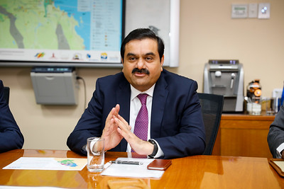 06 December 2016 - Townsville, Qld - Adani Carmichael coal mine announcement in Townsville.  Adani Group chairman Gautam Adani meets with Queensland premier Annastacia Palaszczuk at the Port of Townsville -  Photo: Cameron Laird (Ph: 0418 238811 - cameron@cameronlaird.com)