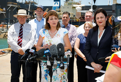 06 December 2016 - Townsville, Qld - Adani Carmichael coal mine announcement in Townsville.  Townsville mayor Jenny Hill during a media conference - Photo: Cameron Laird (Ph: 0418 238811 - cameron@cameronlaird.com)