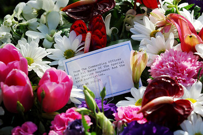 12 JUN 2006 TOWNSVILLE, QLD - 10 yr memorial for the Blackhawk crash.  18 soldiers from the SAS and 5 Aviation Regiment died on 12 June 1996 when 2 Blackhawk helicopters collided during night exercises at High Range training facility west of Townsville - PHOTO: CAMERON LAIRD (Ph: 0418 238811)