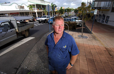 28 MAR 2006 INNISFAIL, QLD - The town of Innisfail is starting to return to normal a week after Larry's onslaught.  Banana farmer Colin Rostedt, one of the quiet achievers who got the district back on track - PHOTO: CAMERON LAIRD (Ph: 0418238811)