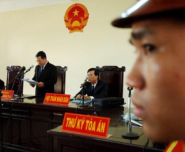 03 MAR 2006 VUNG TAU, VIETNAM - The verdict is read out at Gary Glitter's trial in Vung Tau, Vietnam - PHOTO: CAMERON LAIRD (Ph: +61 418238811)
