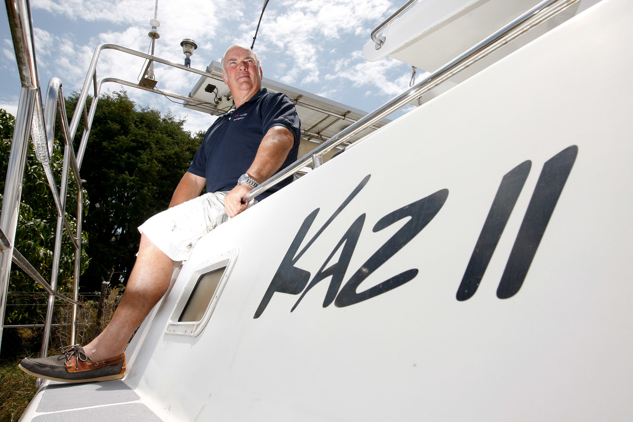24 September 2008 Townsville, QLD - Townsville yacht broker Ron Knott about Kaz II which he is selling on behalf of the family of deceased owner - Photo: Cameron Laird (Ph: 0418 238811)