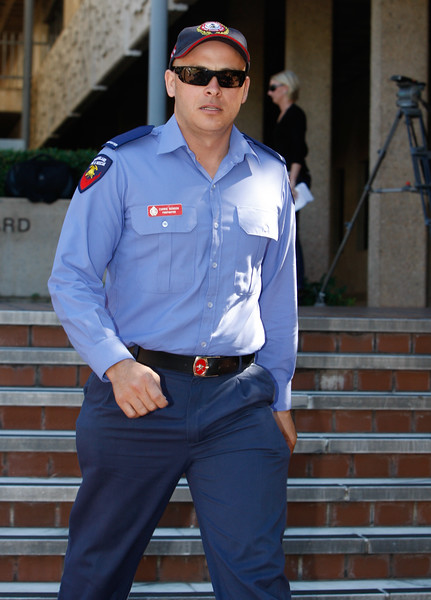 07 August 2008 Townsville, Qld - Former rescue helicopter crewman Corrie Benson outside the inquiry into the disappearance of three men from the Kaz II in April 2007 - Photo: Cameron Laird (Ph: 0418 238811)
