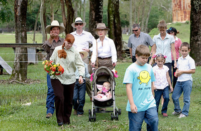 14 February 2009 Ingham, Qld - Governer General Quentin Bryce visits a flood ravaged cattle station at Lannercost, 30km west of Ingham - Photo: Cameron Laird (Ph: 0418 238811)