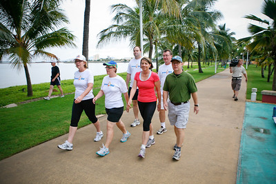 24 February 2009 Townsville, Qld - Queensland premier Anna Bligh takes a morning walk along Townsville's Strand on the first day of campaigning - Photo: Cameron Laird (Ph: 0418 238811)