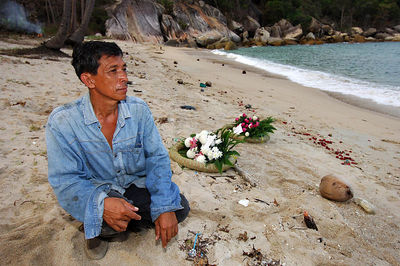 KOH SAMUI, THAILAND / 05 JAN 2006 - Murder of British backpacker Katherine Horton in Koh Samui, Thailand.  52 year old Koh Samui labourer Sutin Pechprom found Katherine's body and described the injuries she he saw - PHOTO: CAMERON LAIRD