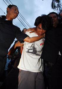 KOH SAMUI, THAILAND / 09 JAN 2006 - Murder of British backpacker Katherine Horton in Koh Samui, Thailand.  Wichai SomKhaoyai, 24 who is charged with the rape and murder of British backpacker Katherine Horton and will face the death penalty if convicted - PHOTO: CAMERON LAIRD