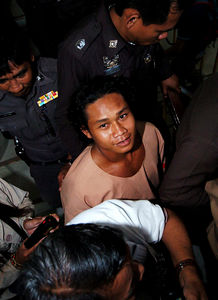 SURAT THANI, THAILAND / 13 JAN 2006 - Murder of British backpacker Katherine Horton in Koh Samui, Thailand.  Bualoi Posit, 23 leaves Surat Thani court charged with the murder and rape of Katherine Horton - PHOTO: CAMERON LAIRD