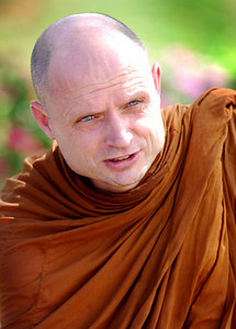 PHANG-NGA, THAILAND / 26 DEC 2005 - British expat Shaun Chiverton who has been a buddhist monk in Thailand for over twenty years led buddhist prayers at the Tsunami Victims Memorial Service, Bang Niang Beach, Phang-nga, Thailand - PHOTO: CAMERON LAIRD (PH +61 418238811)