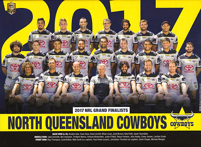 Nth QLD Cowboys  2017 GF Team Photo