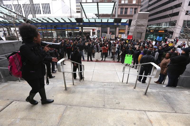 Black Lives Matter Rally Downtown Cincinnati