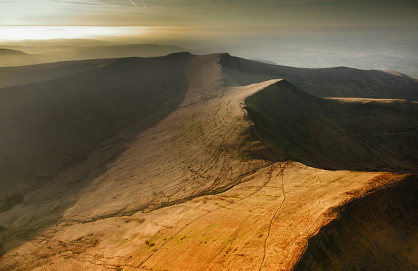 Musician Dylan Fowler used this evocative image of the Brecon Beacons on the cover of his new CD 'A passionate Landscape'