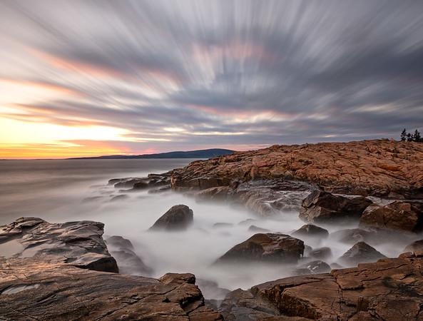 Schoodic Point sunset