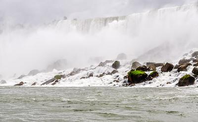 Mossy Rocks in the Falls