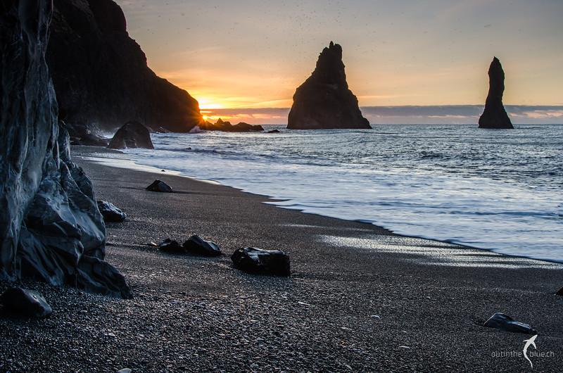 Sunrise, Vík í Mýrdal, Reynisdrangar, Iceland