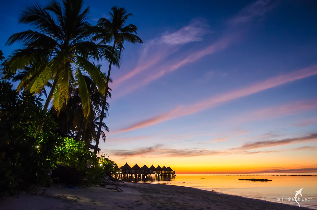 Sunset on Angaga Beach, South Ari Atoll, Maldives